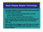 basic display adapter technology