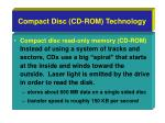 compact disc cd rom technology
