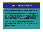 dos driver installation
