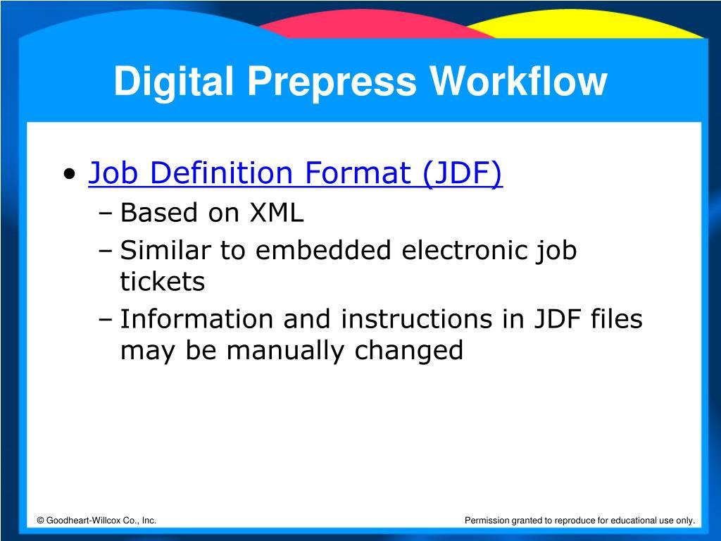 Digital Prepress Workflow