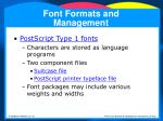 font formats and management29