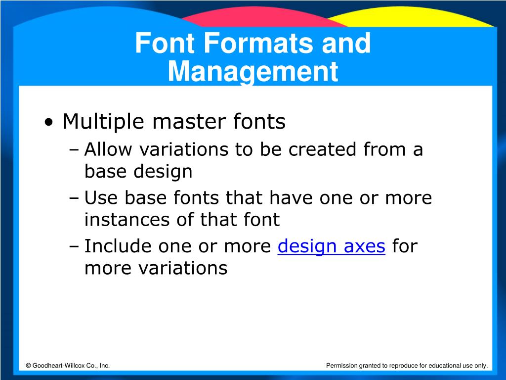 Font Formats and Management