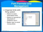 font formats and management32