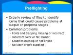 preflighting