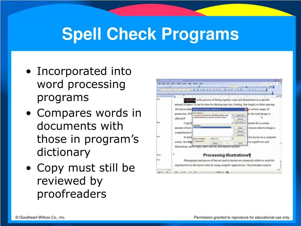 Spell Check Programs