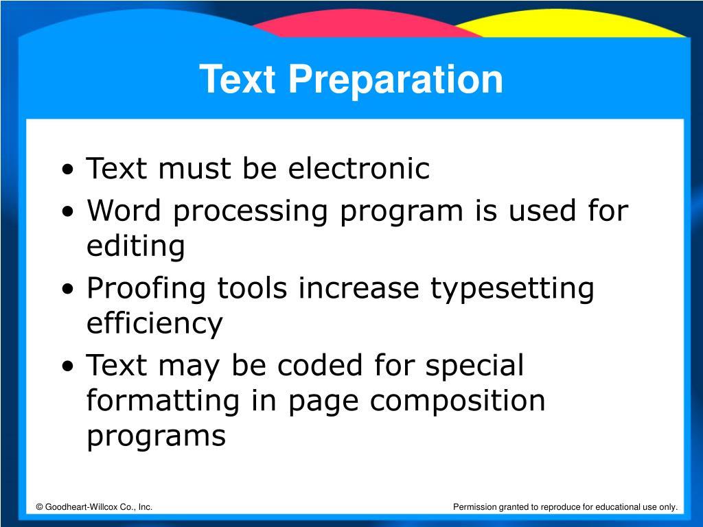 Text Preparation