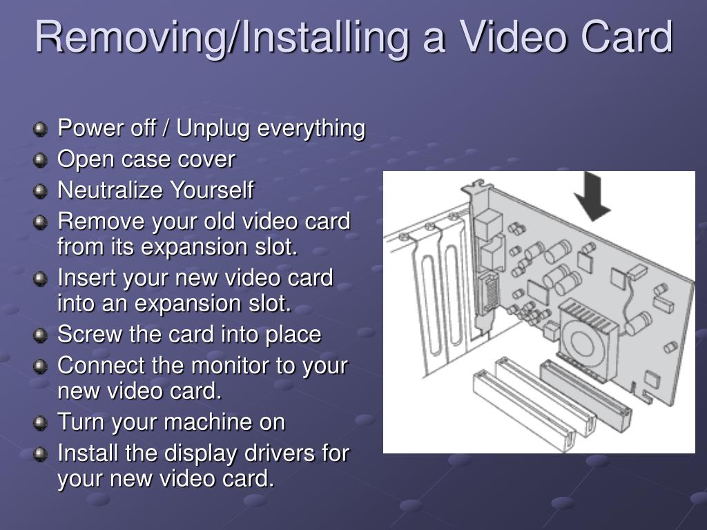 Removing/Installing a Video Card