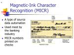 magnetic ink character recognition micr