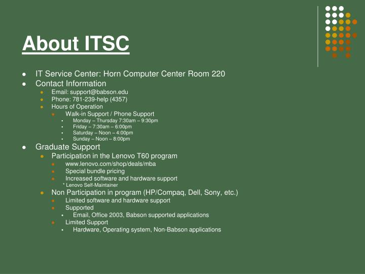 About itsc