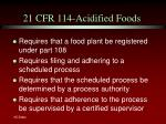 21 cfr 114 acidified foods