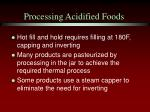 processing acidified foods