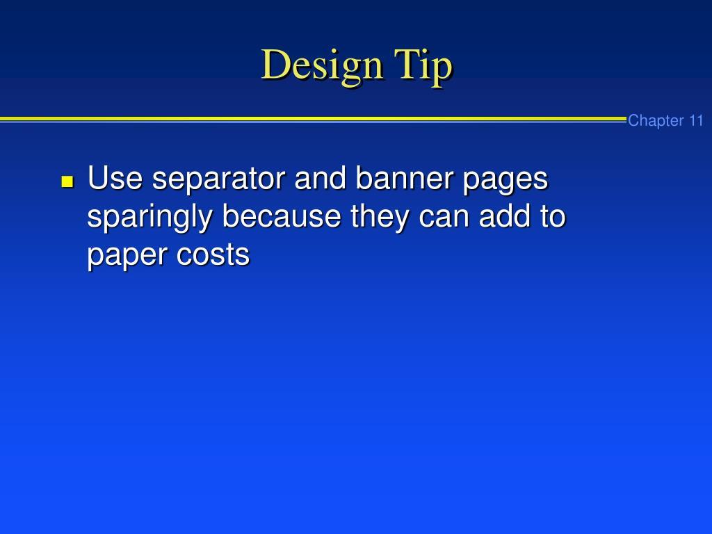 Design Tip