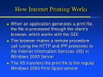 how internet printing works