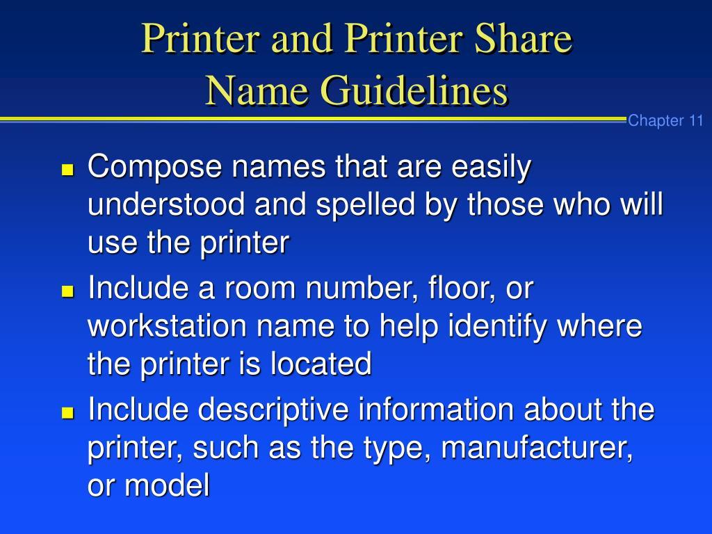 Printer and Printer Share