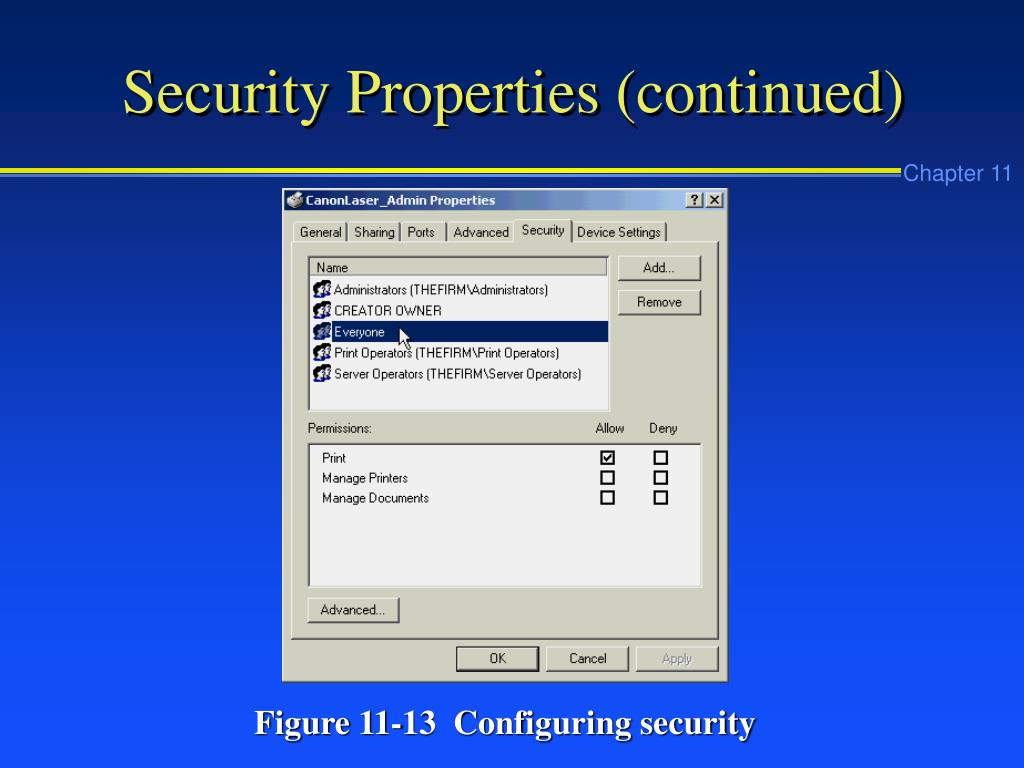 Security Properties (continued)