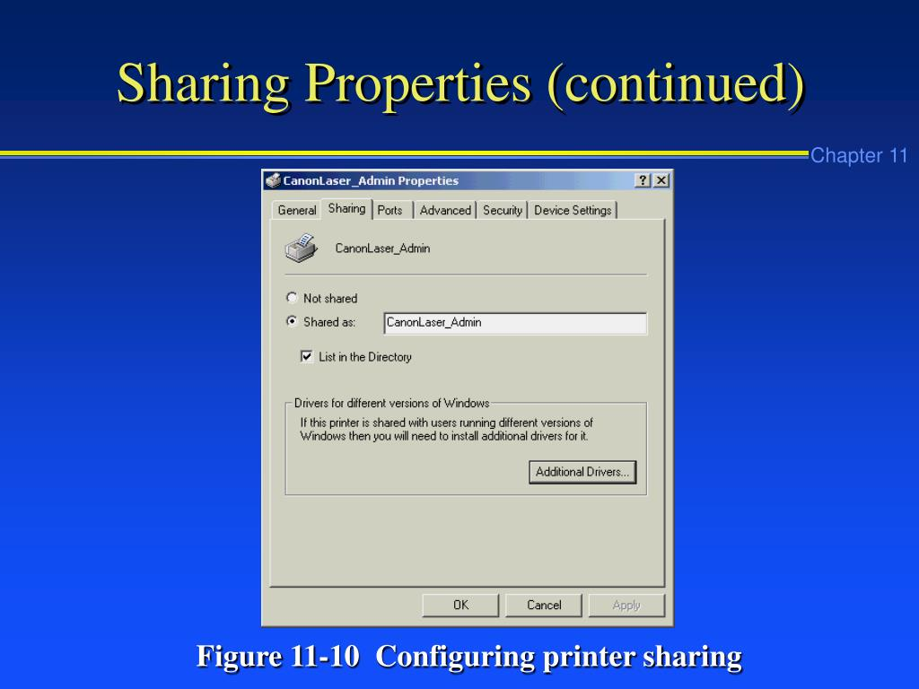 Sharing Properties (continued)