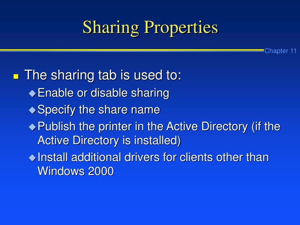 Sharing Properties