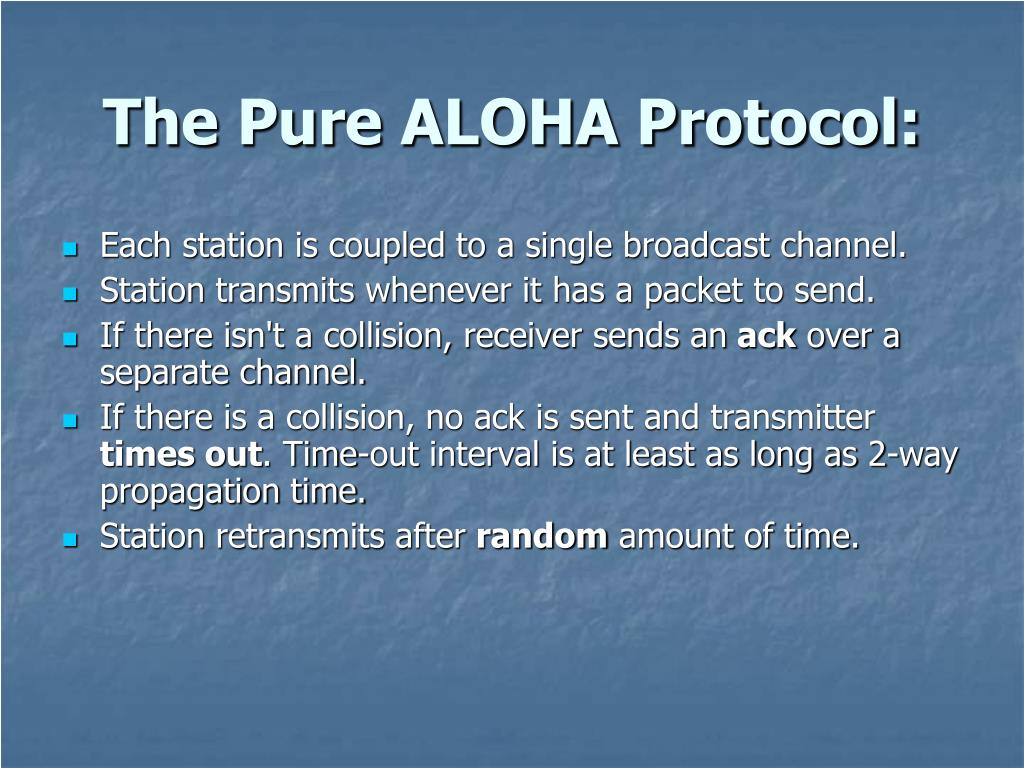 The Pure ALOHA Protocol: