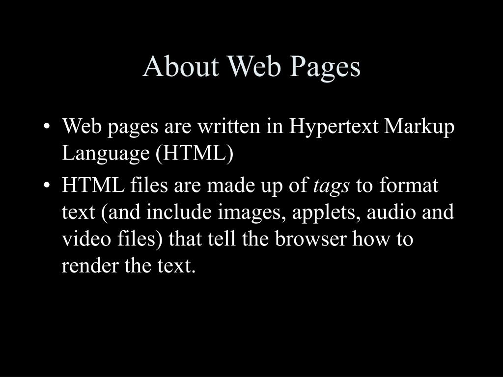 About Web Pages