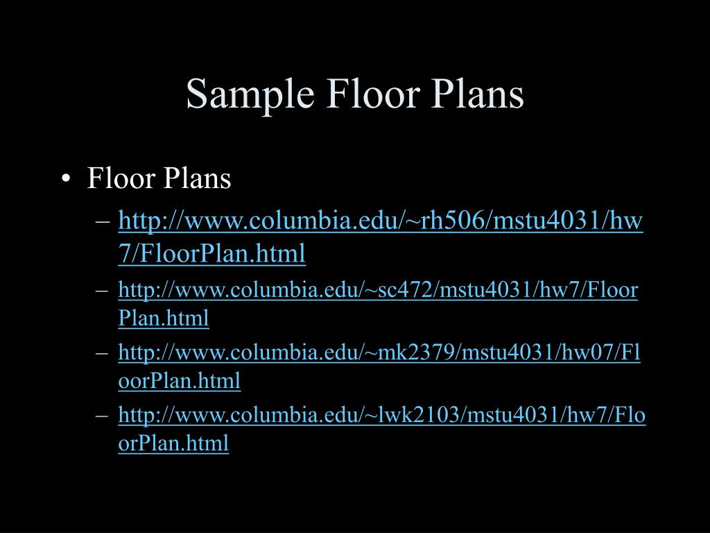 Sample Floor Plans