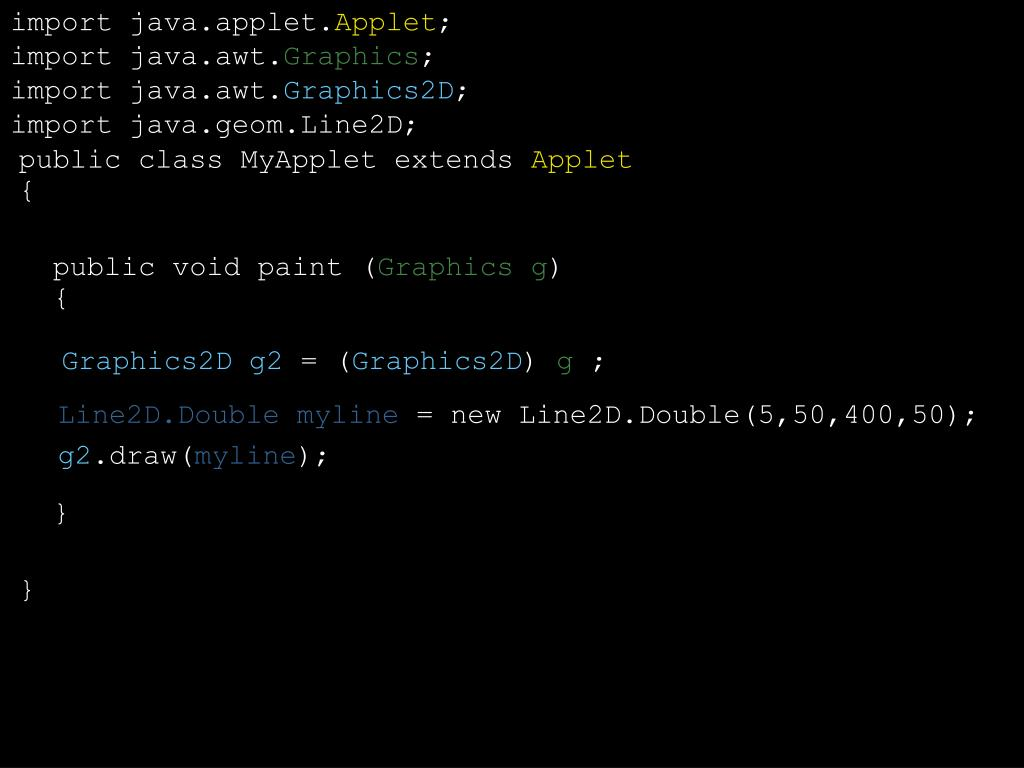 import java.applet.