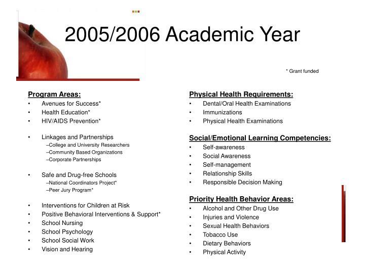 2005 2006 academic year