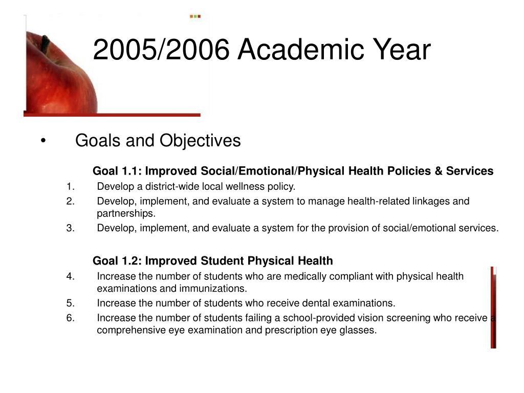 2005/2006 Academic Year