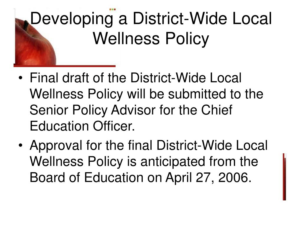 Developing a District-Wide Local Wellness Policy
