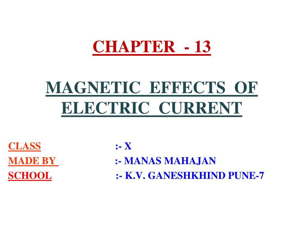 Magnetism ppt for class 10