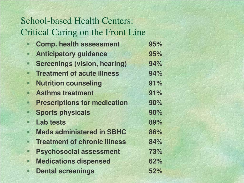 School-based Health Centers: