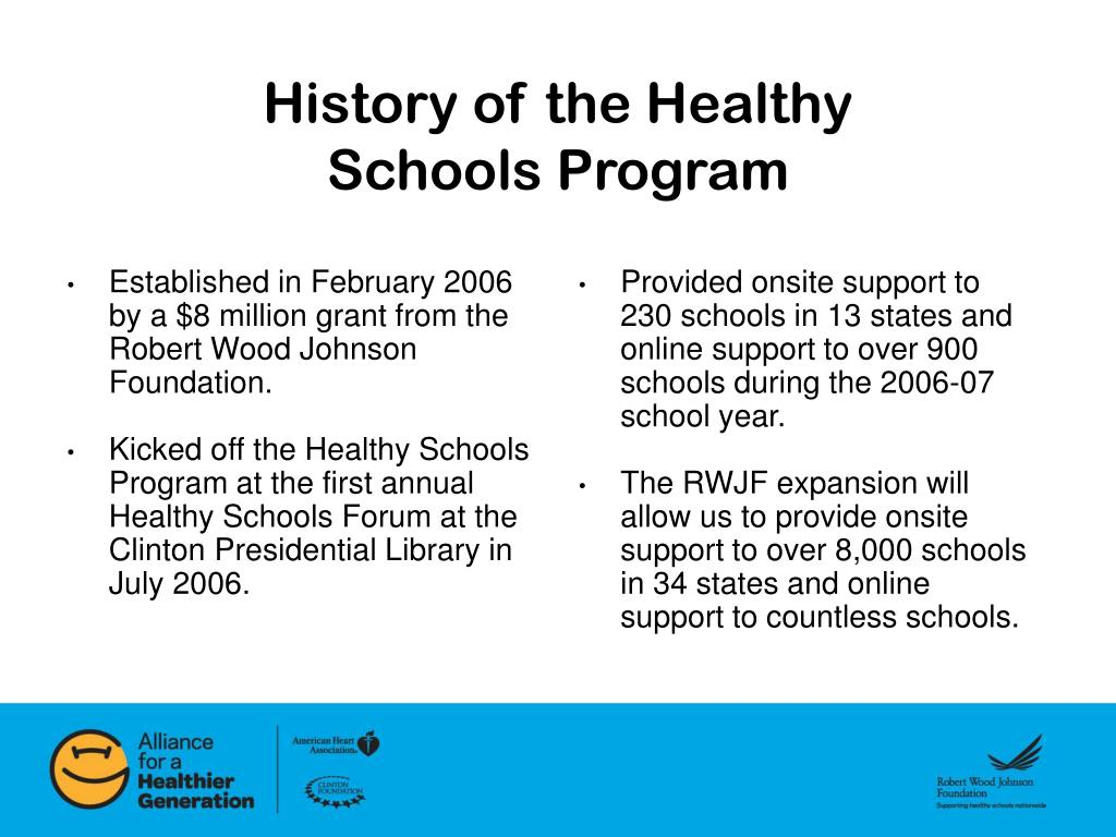 Established in February 2006 by a $8 million grant from the Robert Wood Johnson Foundation.
