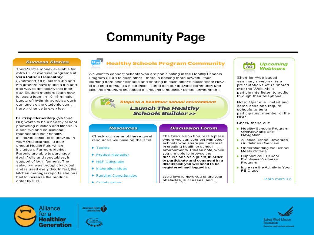Community Page