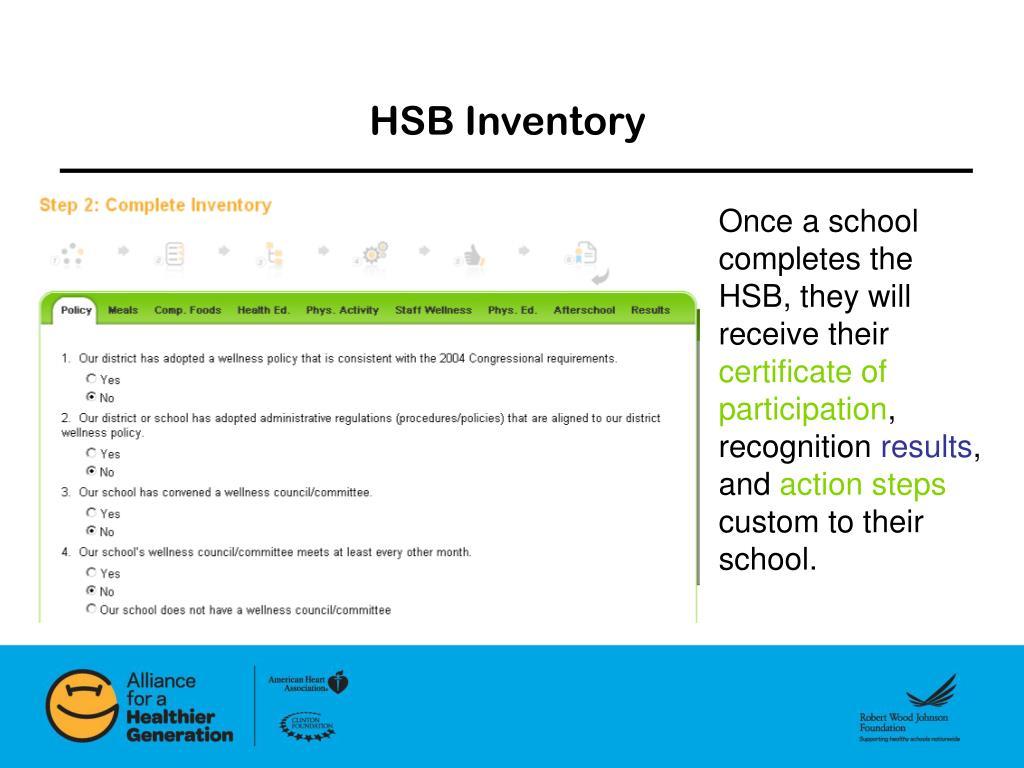 HSB Inventory