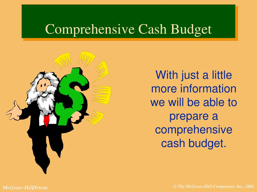 With just a little more information we will be able to prepare a comprehensive cash budget.