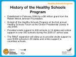 history of the healthy schools program