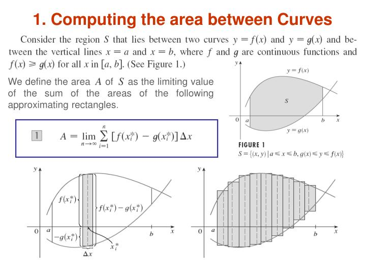 1 computing the area between curves