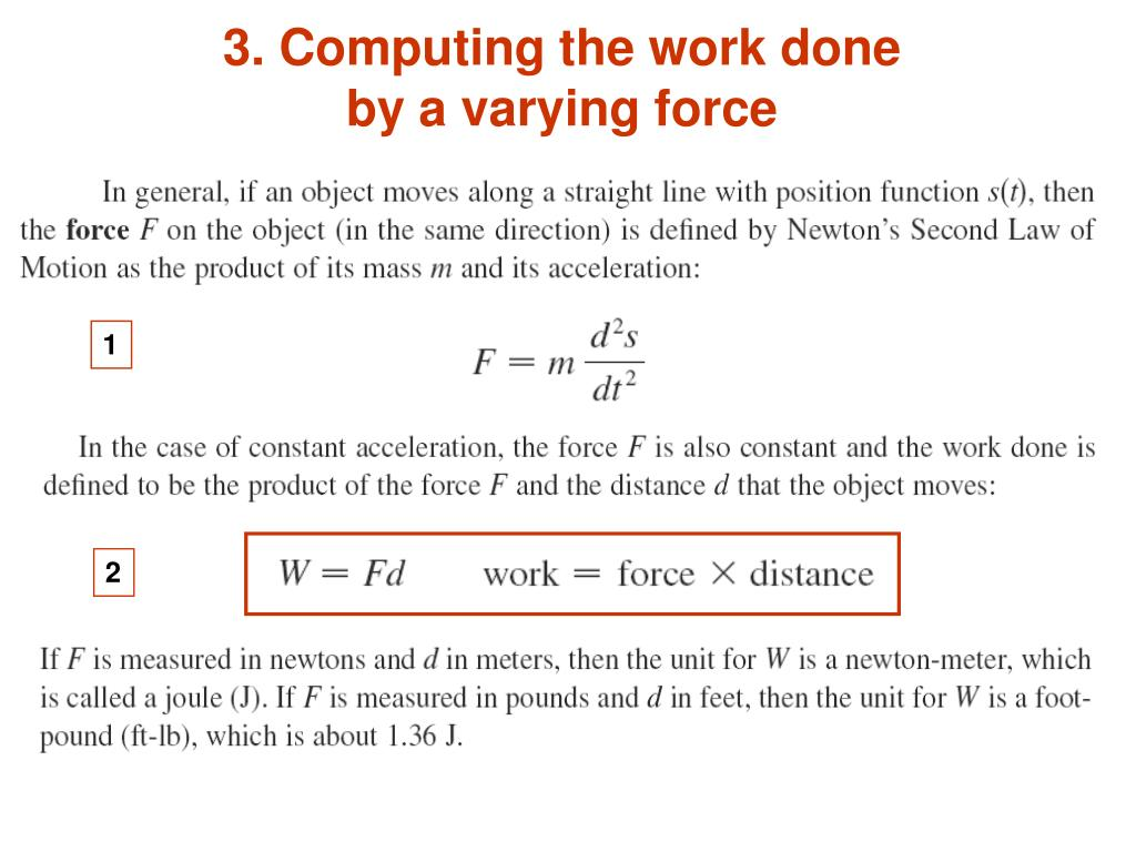 3. Computing the work done