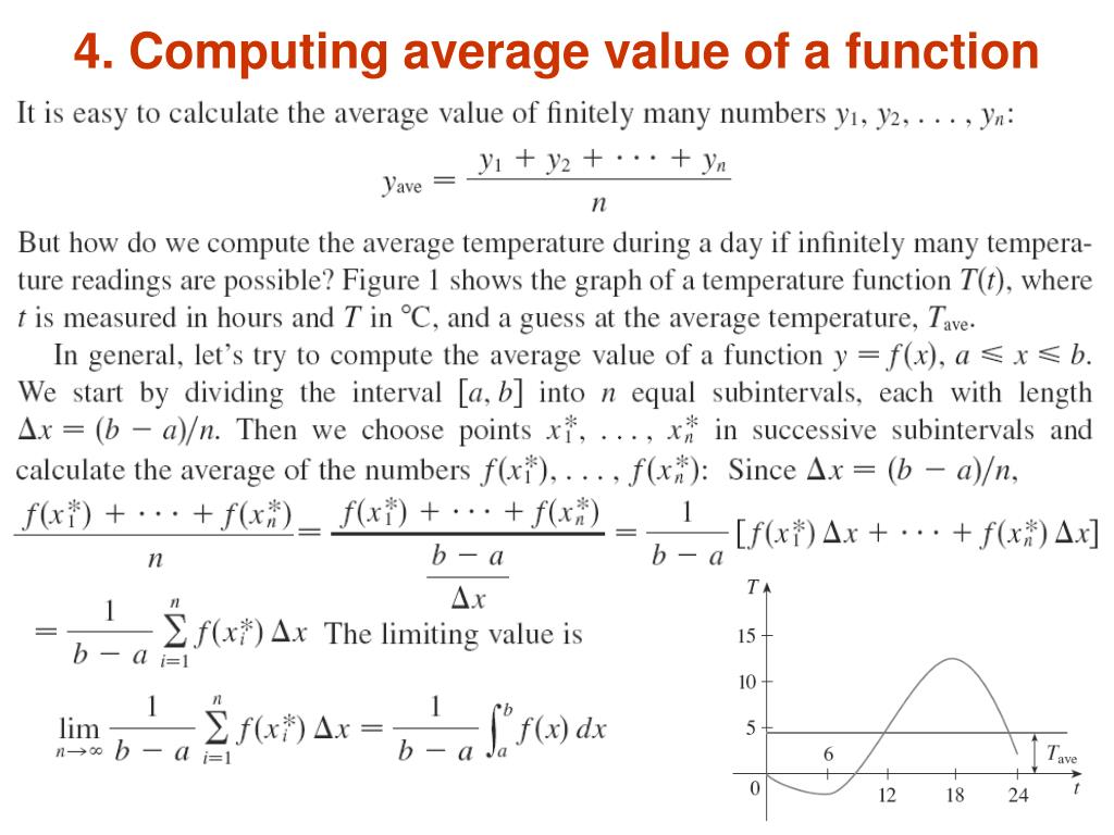 4. Computing average value of a function