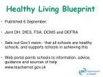 healthy living blueprint