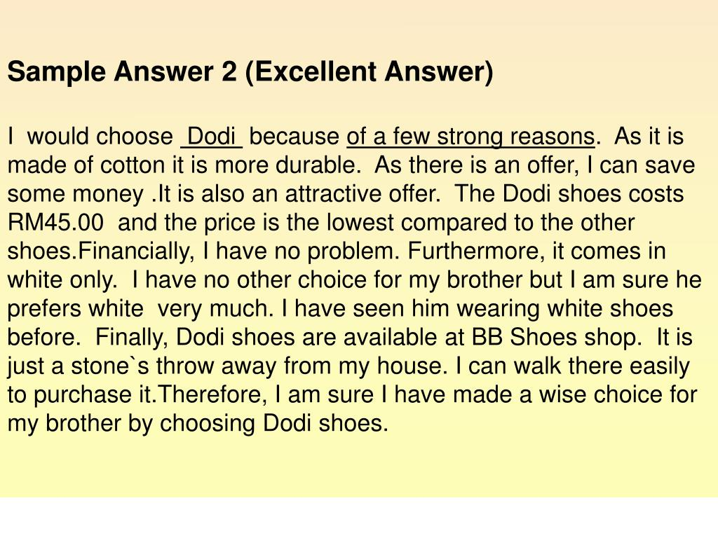 Sample Answer 2 (Excellent Answer)