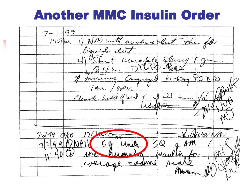 Another MMC Insulin Order