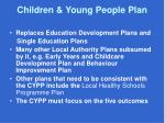 children young people plan