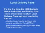 local delivery plans