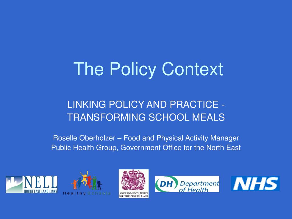the policy context l.