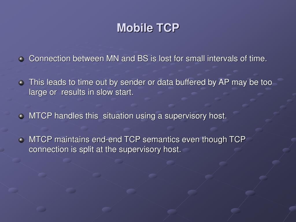 PPT - TCP IN WIRELESS DOMAIN PowerPoint Presentation - ID:762855
