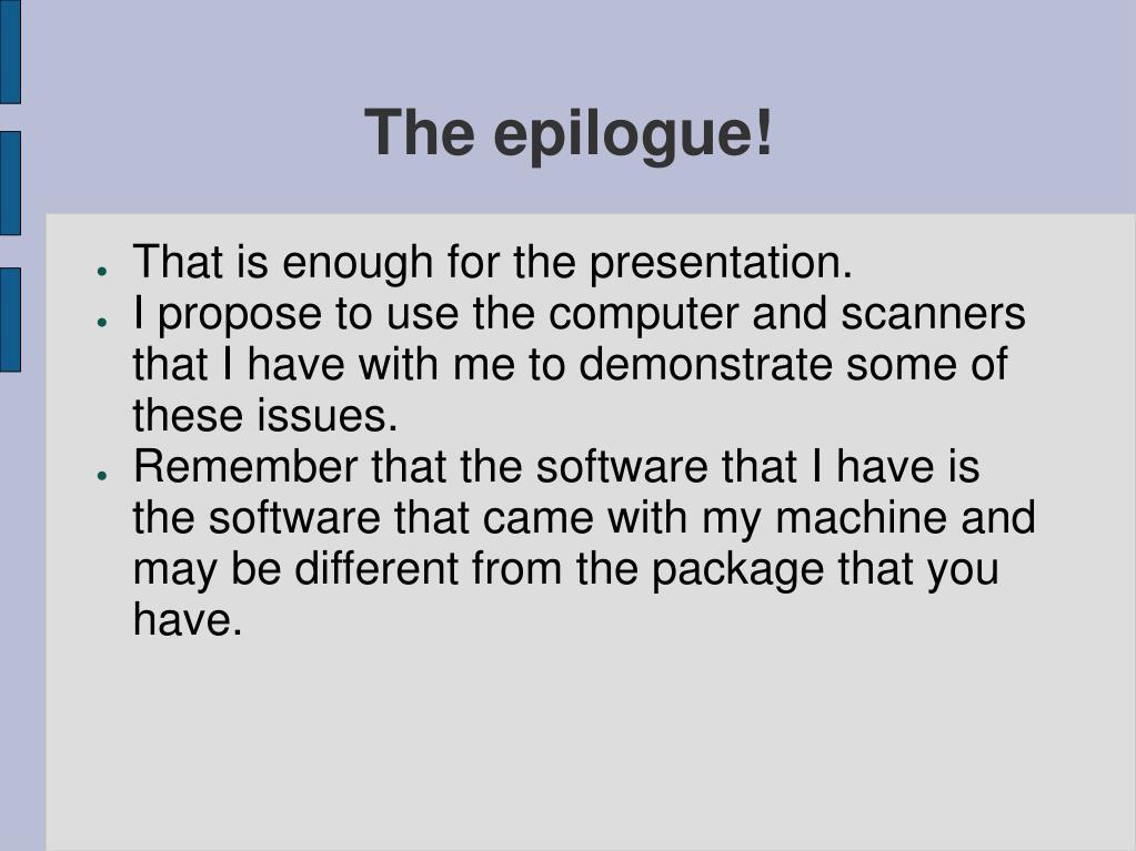 The epilogue!