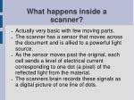 what happens inside a scanner