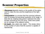 scanner properties
