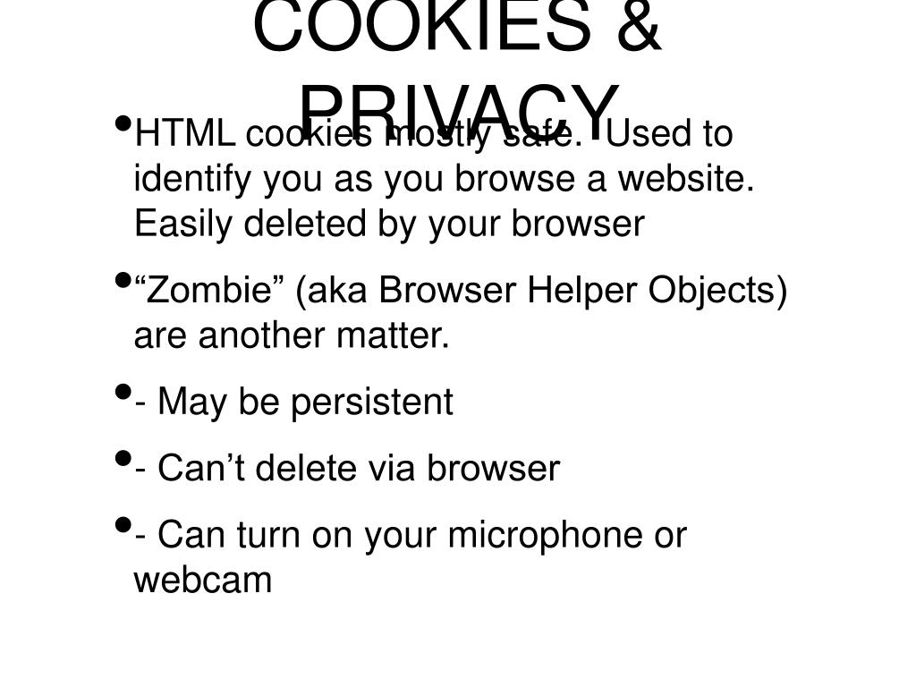 COOKIES & PRIVACY