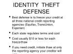 identity theft defense